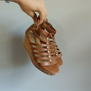 Cherokee caged wedge sandals